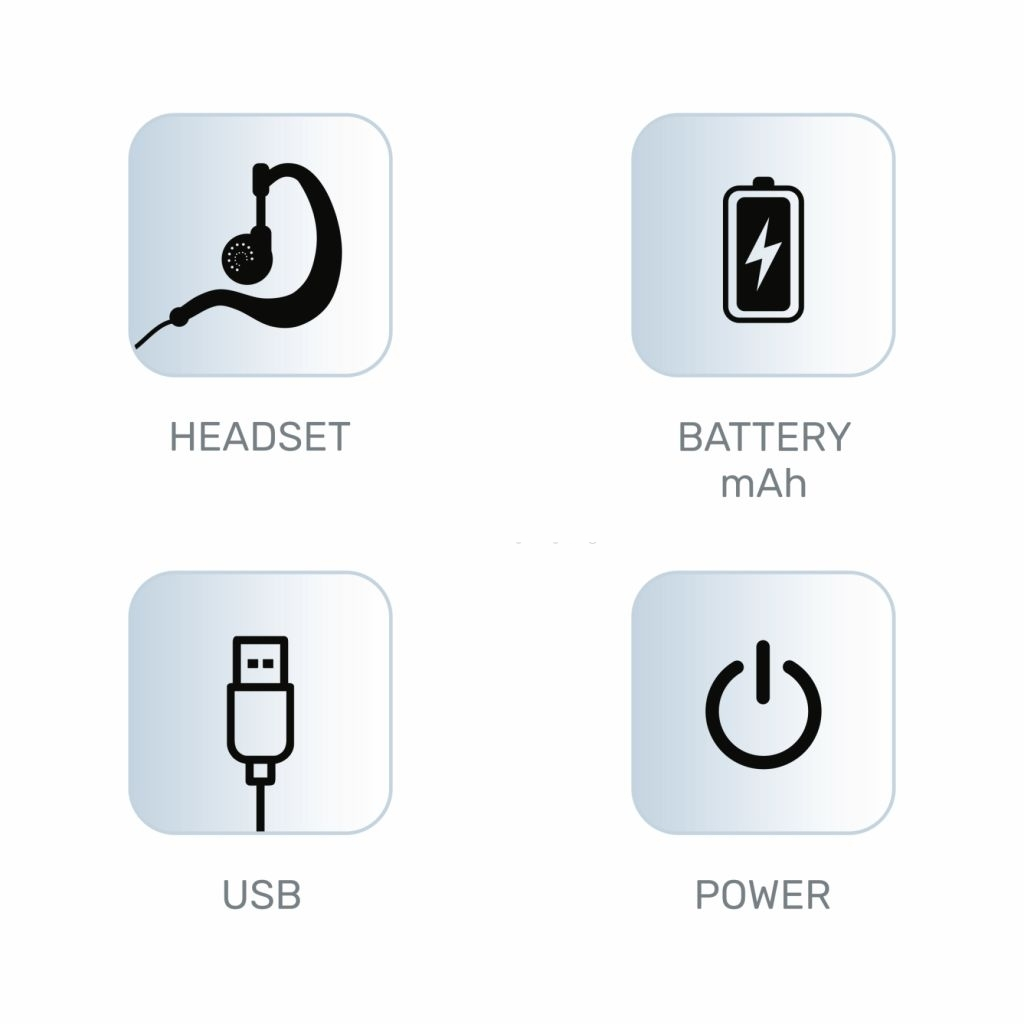 headset - USB charger - power - battery